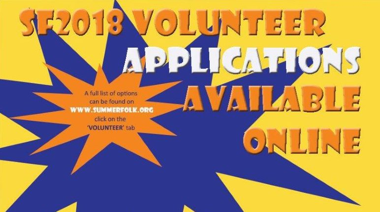 Volunteer Apps Online 2018