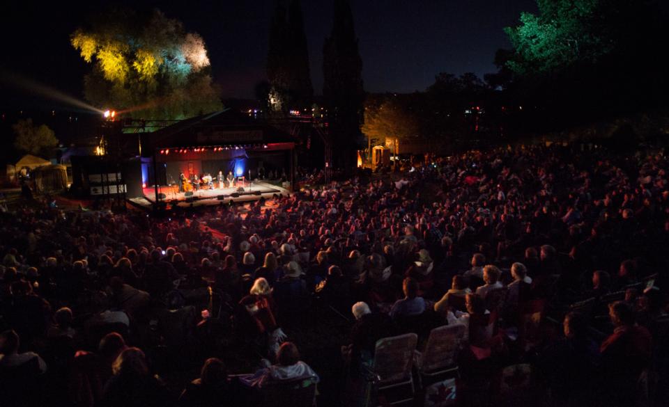 Summerfolk Stage at night